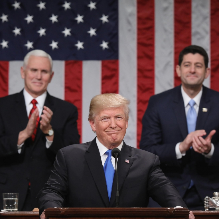 Gaat Trump stunten bij zijn State of the Union speech ?